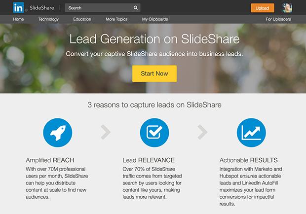 SlideShare lead gen