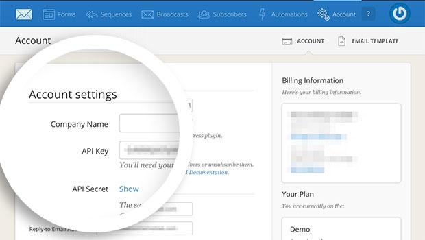 ConvertKit Account API Key