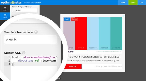 Custom CSS RTL Style