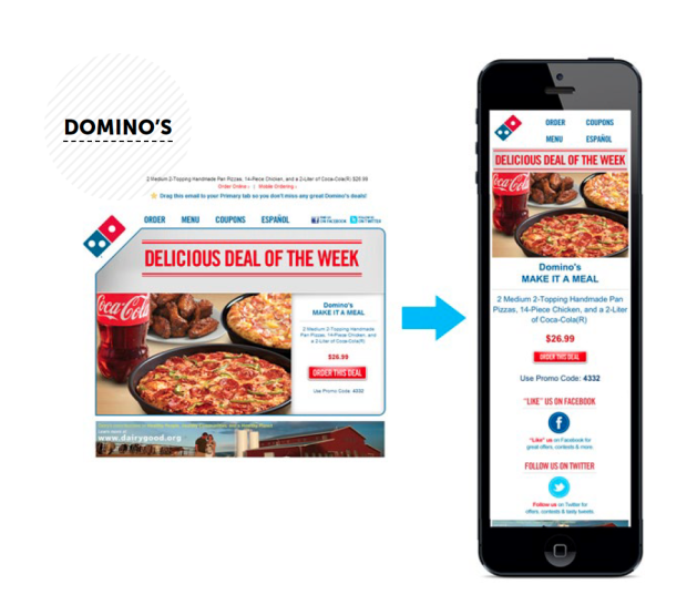 dominos mobile email