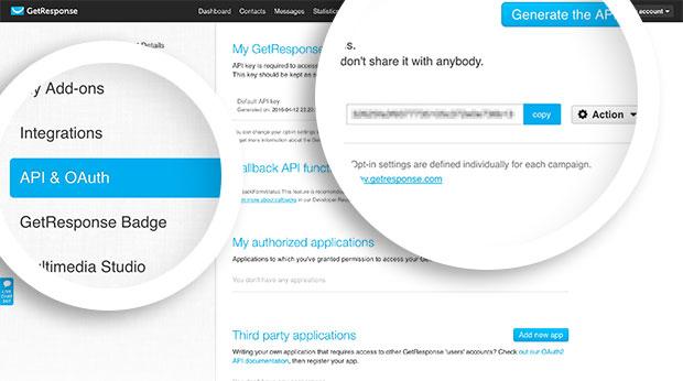 GetResponse API Credentials