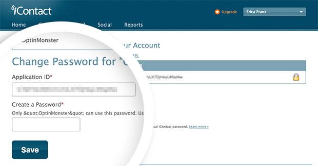 iContact App Password