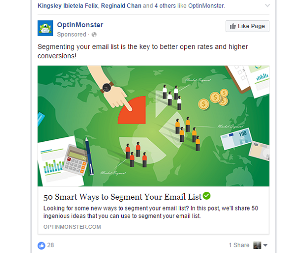 Optin Monster Facebook Ad