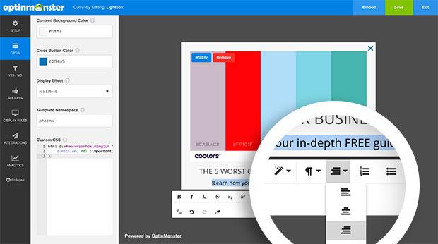 RTL Text Formatting Right Align