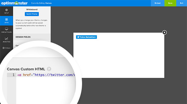 Twitter Custom Canvas HTML