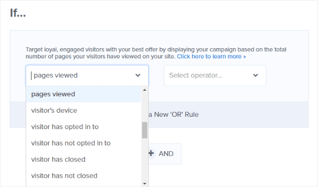 display rules can be used to target offers and segment your email list