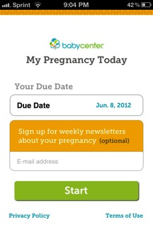 mobile app email signup