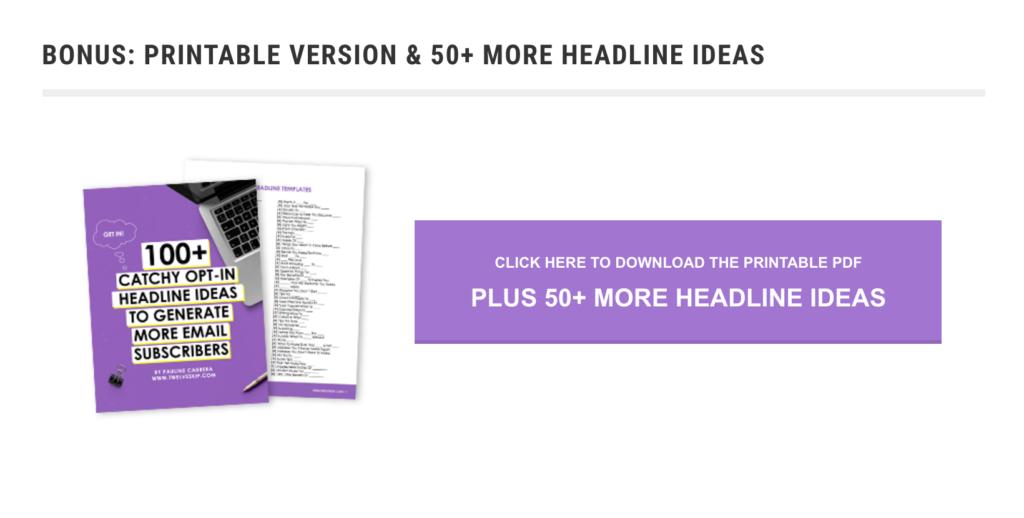 Bigger List - Content Upgrade