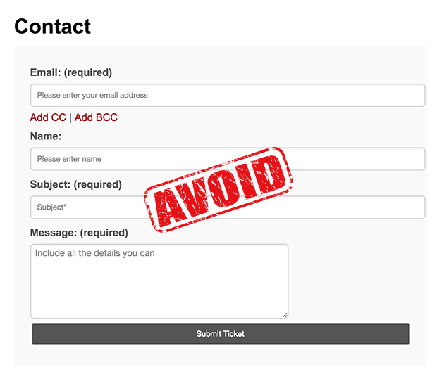 avoid contact form