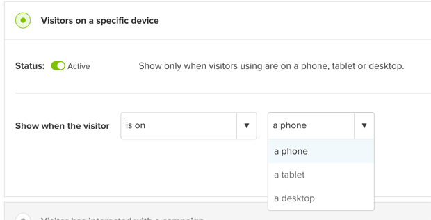 Device Specific Rules for OptinMonster