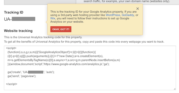 google analytics codes