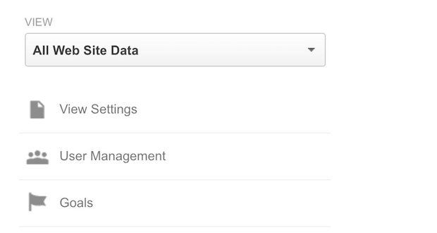 google analytics select goals