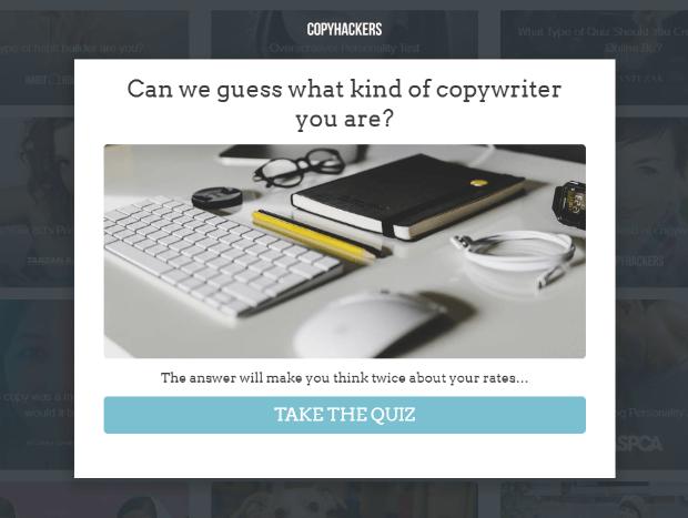copyhackers interact quiz example