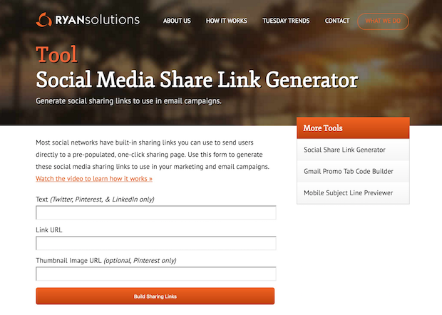 Ryan solutions link generator