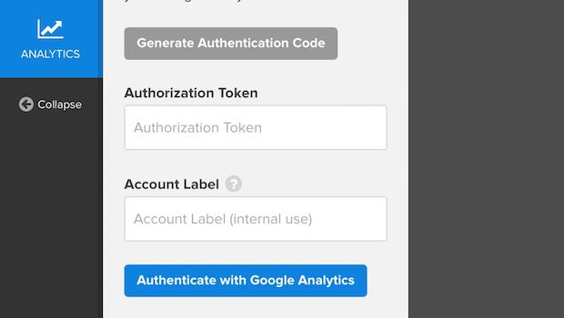 optinmonster google analytics authorization token