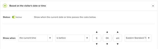 Timezone Rule in OptinMonster