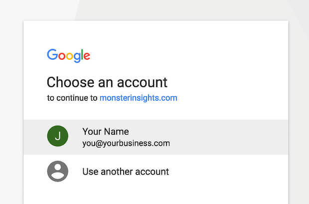 8 MonsterInsights-Authentication-Select-Your-Google-Account