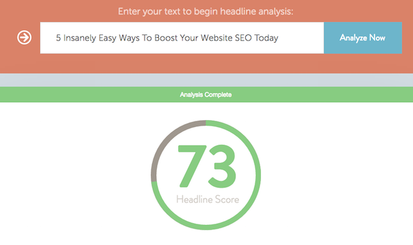 CoSchedule Headline Analyzer Result