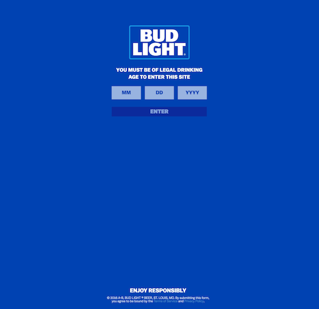 budlight welcome gate