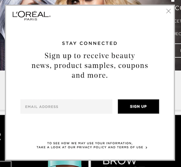 loreal popup