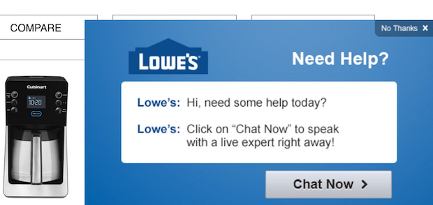lowes popup