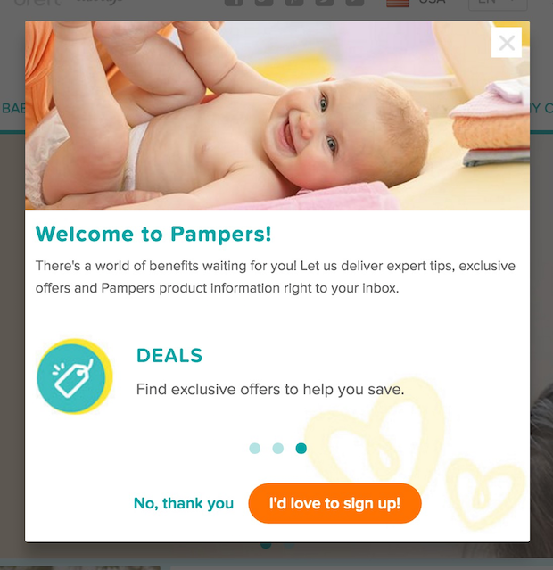 pampers popup