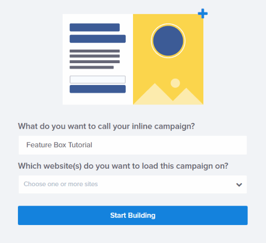 start building your new campaign
