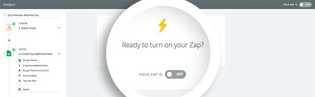 The last step is to enable your Zap.