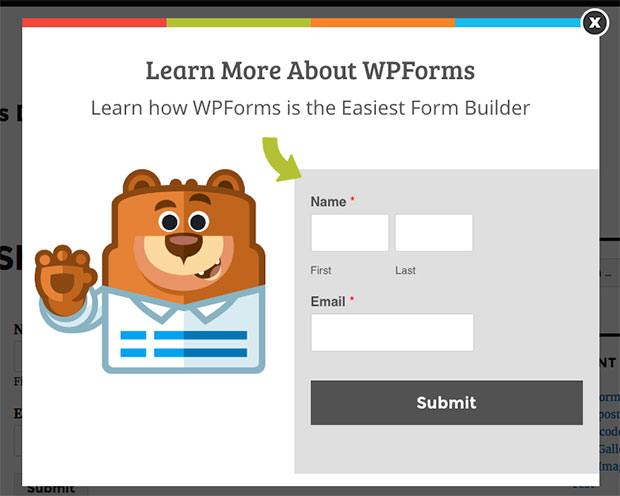 wpform-in-optinmonster-popup