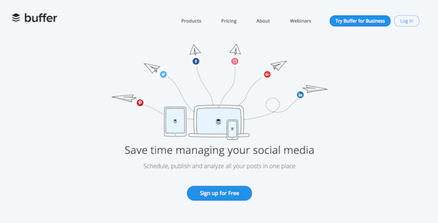 buffer is one of the most popular social media marketing tools