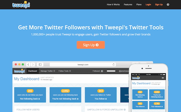 social media marketing tools - tweepi