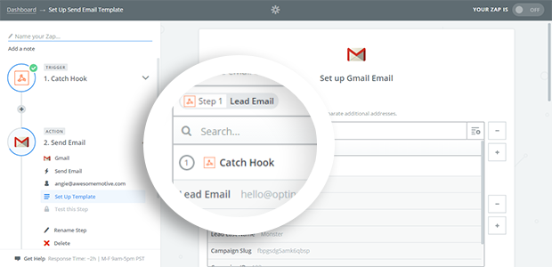 Select Lead Email