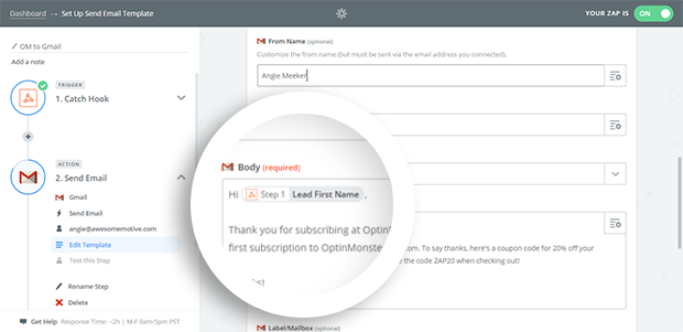 Personalize Your Email Using Merge Tags