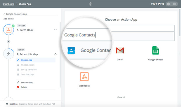 choose-app-to-connect-with-zapier