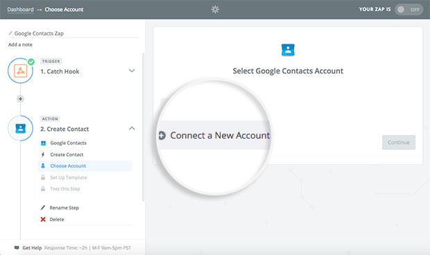 connect-to-new-google-account