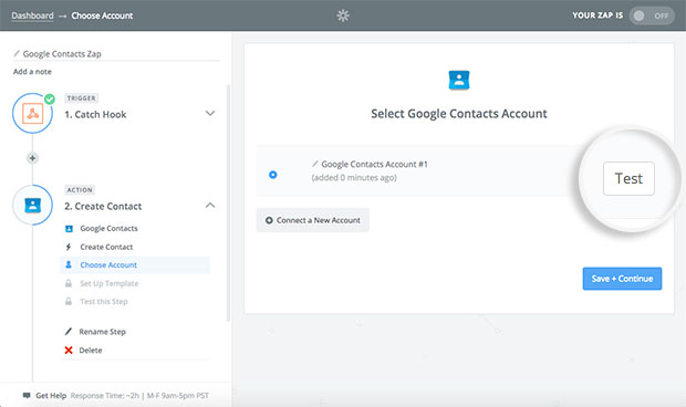 test-google-account-connection