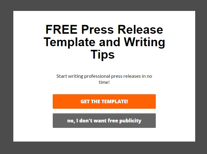 FitSmallBusiness targeted offer for Press Releases
