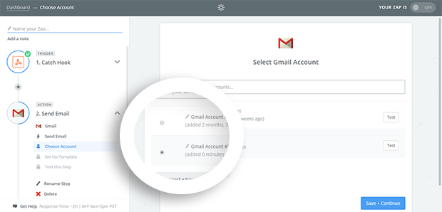 Rename Gmail account for reference