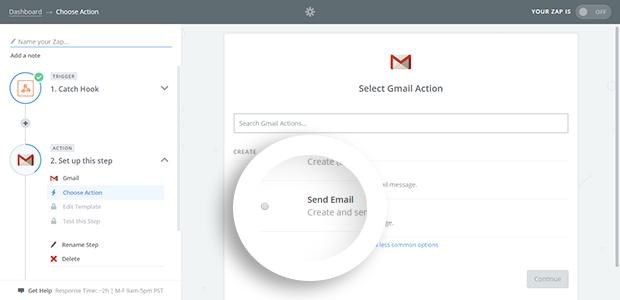 Choose Send Email