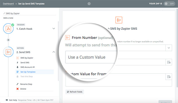 choose-custom-value-for-from-number-in-sms-by-zapier