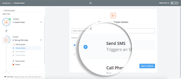 click-send-sms-as-action