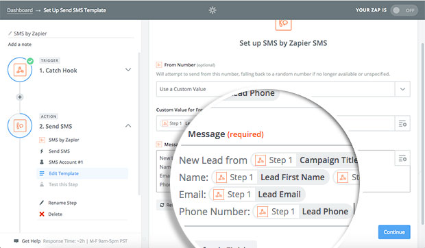 determine-fields-to-be-sent-in-sms-message-by-zapier