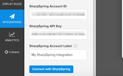 enter-sharpspring-api-credentials-into-optinmonster
