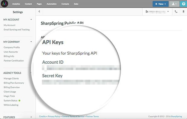 gather-sharpspring-api-credentials
