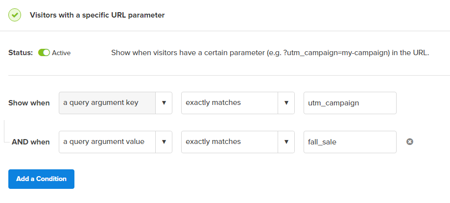 Target utm_campaigns with OptinMonster