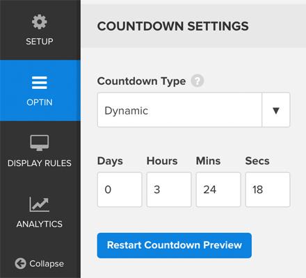 OptinMonster Dynamic Timer