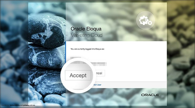 Select the Accept button to give permission for OptinMonster to connect with your Eloqua account.