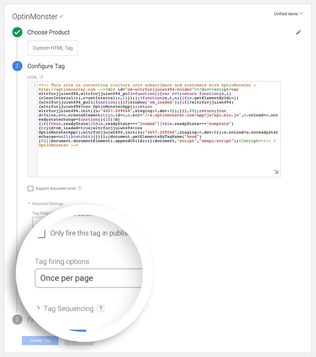 OptinMonster offers an easy integration with Google Tag Manager