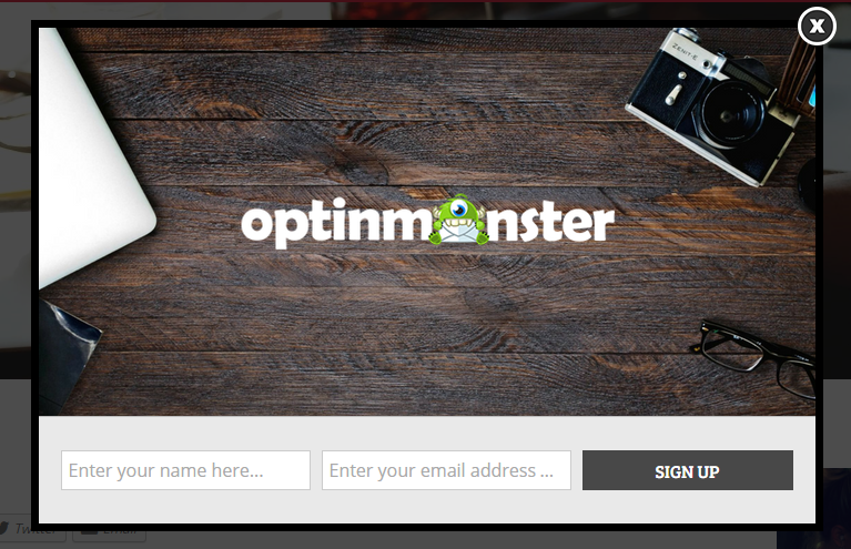 AtHoc uses the OptinMonster lightbox theme Bullseye to increase demo requests