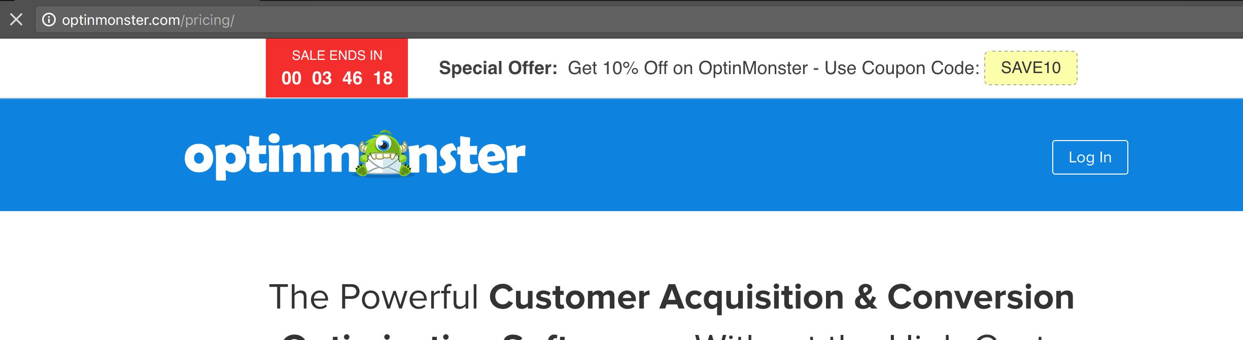 OptinMonster's Countdown Timer